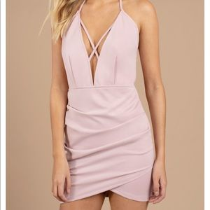 Pink/Mauve Halter Bodycon Dress
